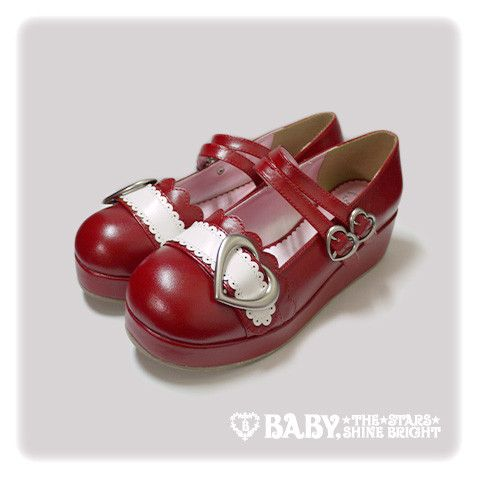 Baby, the stars shine bright Heart buckle shoes 2015