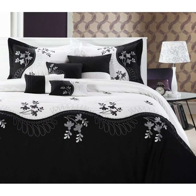 Pros And Cons Of White Comforter   Trina Turk Bedding   Decorating ... : black and white quilt sets - Adamdwight.com