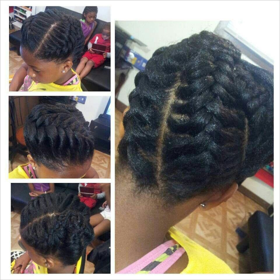 Stunning large braided natural updo hair pinterest extensions