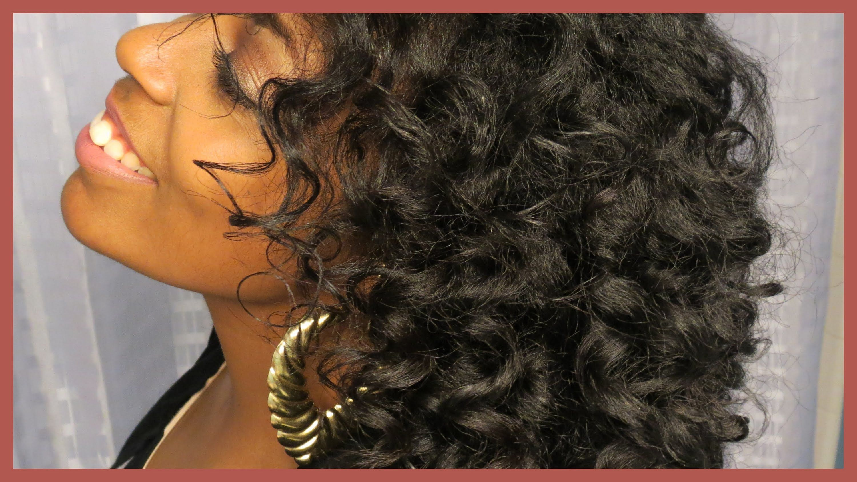 Use purple flexirods to get curls on transitioning hair fluffy