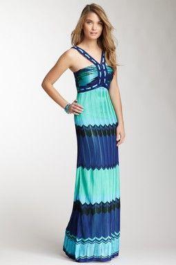 4fb694e583d248 Hale Bob Zigzag Stripe Maxi Dress