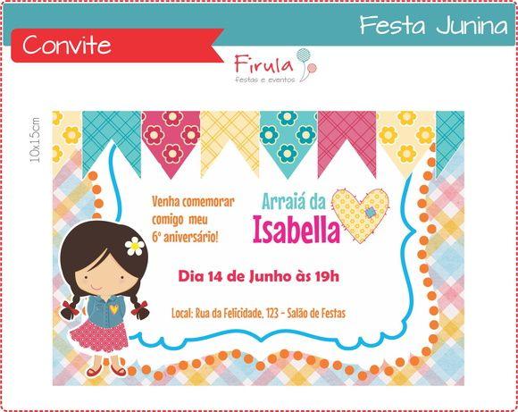 Festa Junina Convite Digital Personalizado Tamanho 10x15cm Ou