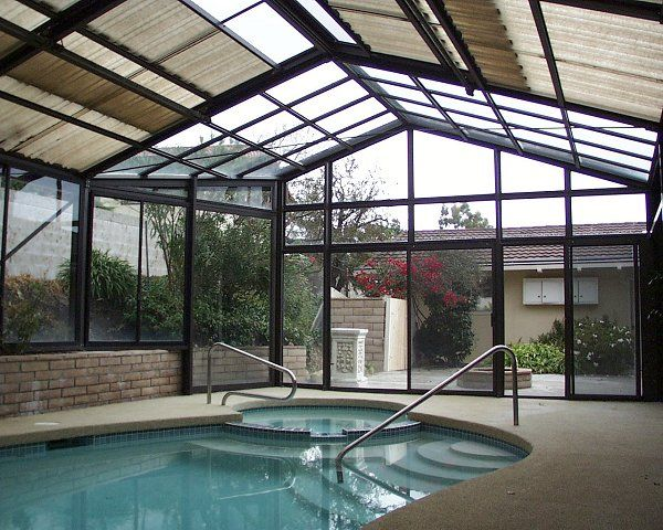 Freestanding Pool Enclosure Pool Houses Pool Hot Tub Outdoor Pool