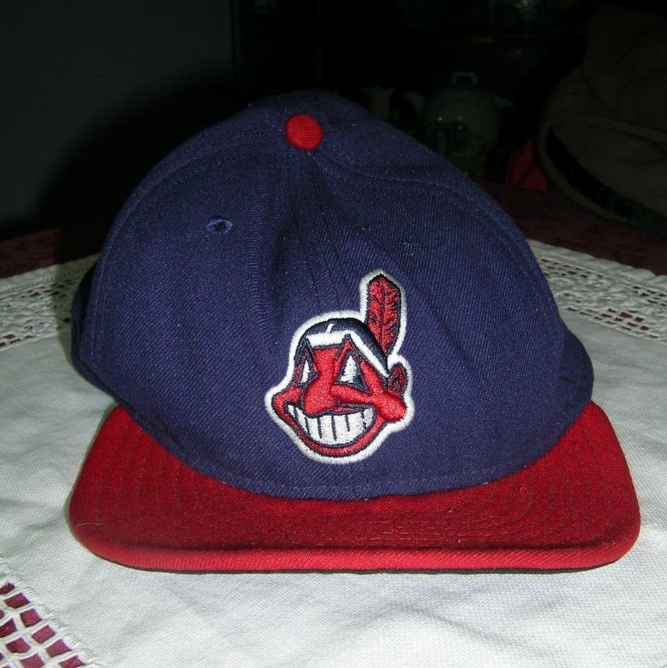 d14b4bca582 ... discount vintage cleveland indians new era hat 7 5 8 fitted 59fifty  baseball mlb very good