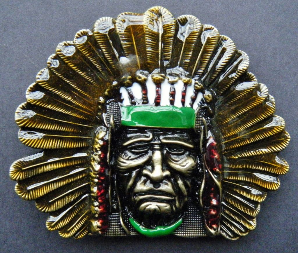 NATIVE AMERICAN INDIAN CHIEF OLD WEST MEN S BELT BUCKLE BOUCLE DE CEINTURE 4aba15ddc40
