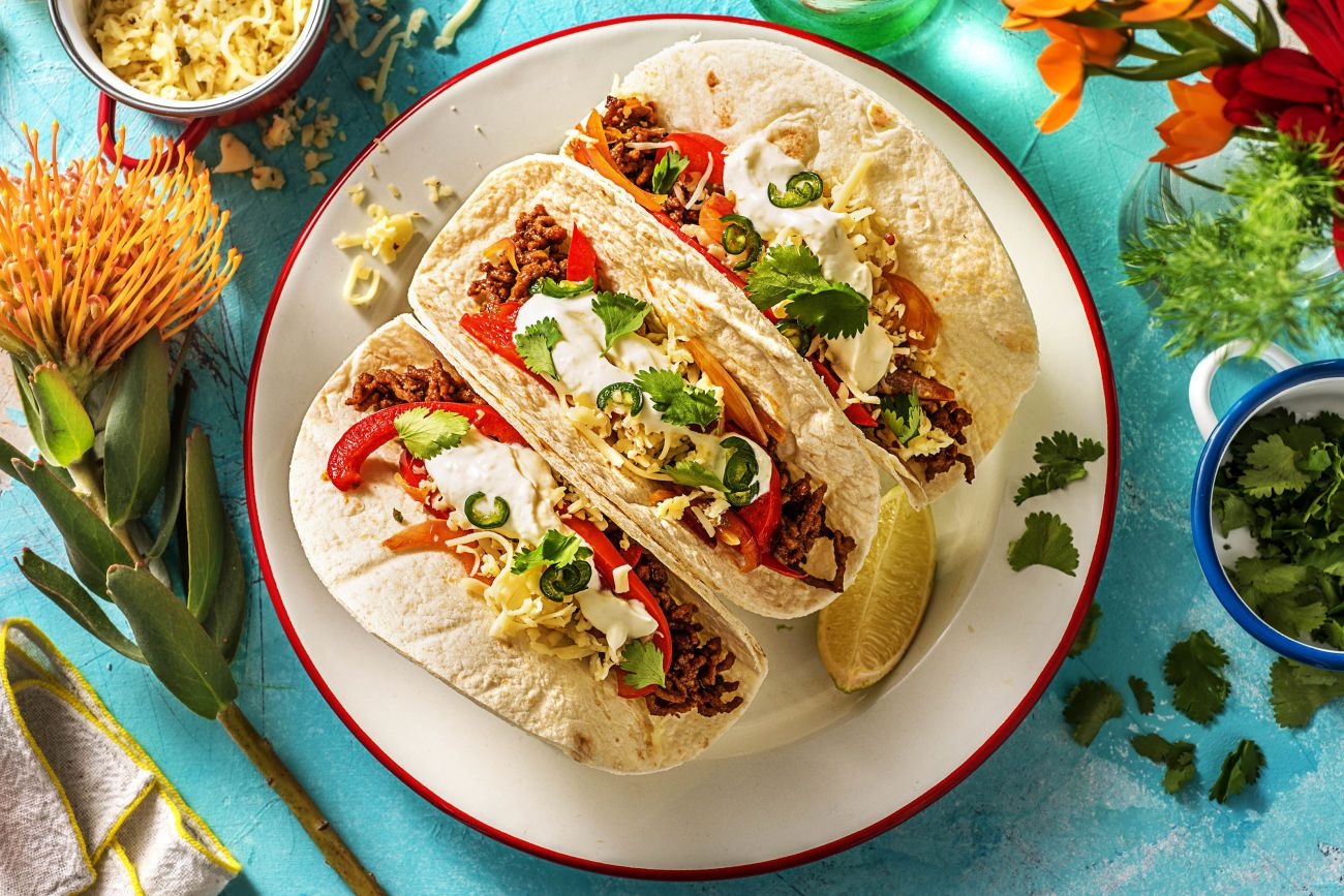 Ground Beef Tacos With Cheese Recipe Hellofresh Recipe Tacos Beef Ground Beef Tacos Recipes