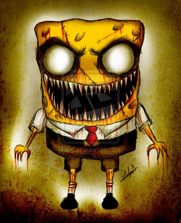 Scary Spongebob : scary, spongebob, Zombie, Spongebob, Eilyn-Chan, DeviantArt, Drawings,, Creepy, Cartoon