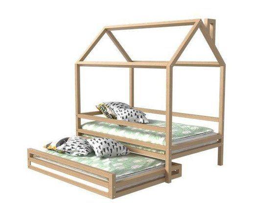 Amis De Votre Enfant Passent Parfois La Nuit Vous Ou Proches De L Enfant Restent Sur Quelques Jours Faites Att Toddler House Bed Montessori Bed Toddler Bed