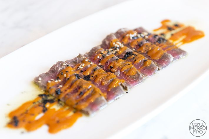Como Cocinar Presa Iberica | Oributataki De Presa Iberica Con Salsa De Mojo Picon Aperitivos
