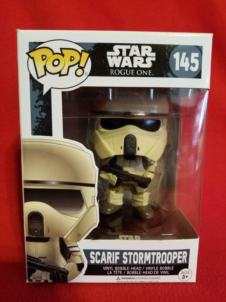 Scarif Stormtrooper Rogue One Star Wars FUNKO POP MIB NEW 145 #145