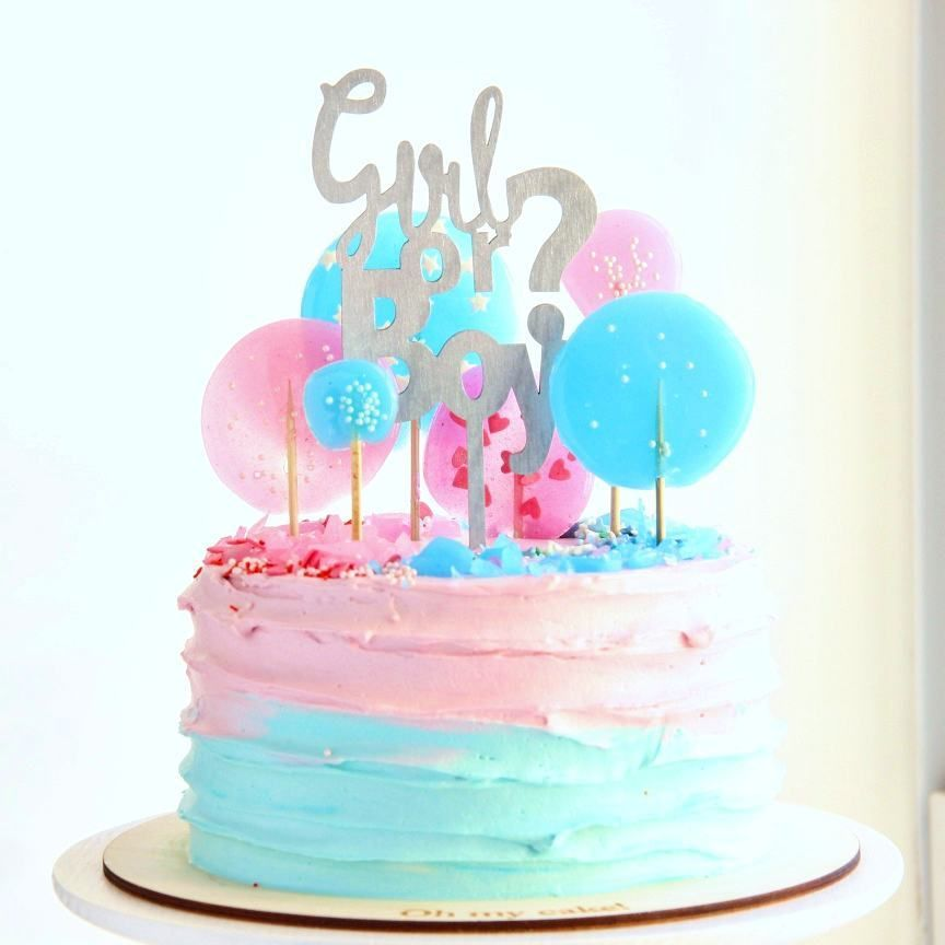 Baby Shower Cake Designs Gender Reveal Party With Images