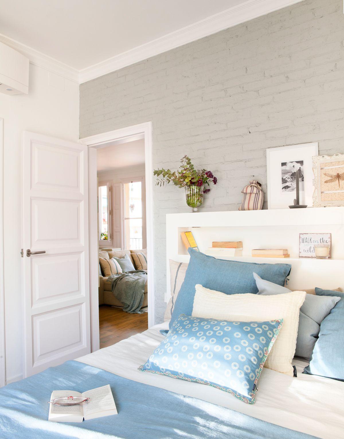 Azul y gris en 2019 dormitorios pinterest for Dormitorios pintados en gris