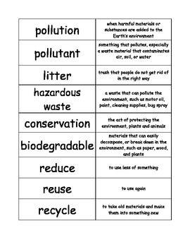 Pollution Word Sort Information Words Essay Land