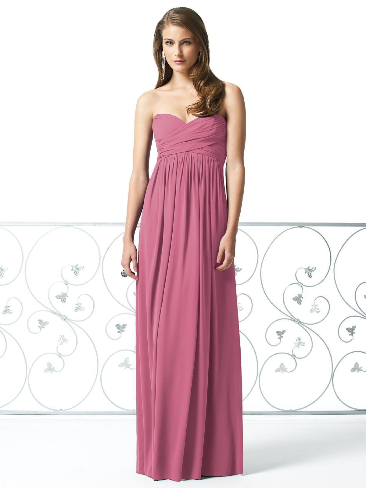 Hermosa Vestido De La Dama De Honor De Encaje Dessy Imagen ...