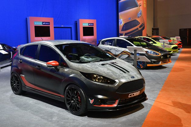 Ford Fiesta St Customs Get Wild At Sema Ford Fiesta St Ford