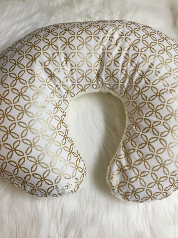 Baby Boppy Cover Gold Metallic Boppy Cover Cream Minky Stunning Boppy Cuddle Pillow Cover