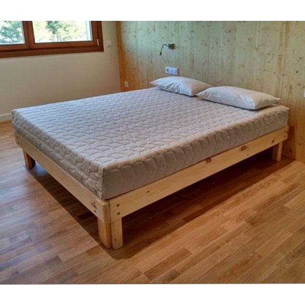 Cama somier madera fustaforma somier camas y madera for Como hacer una cama alta de madera