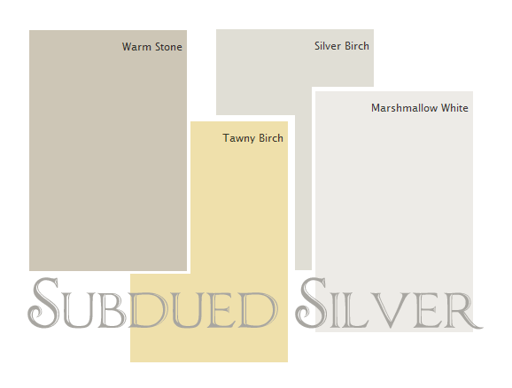 A Subdued Barely There Silver Palette From Diane Henkler Glidden Paint Colors Stone White