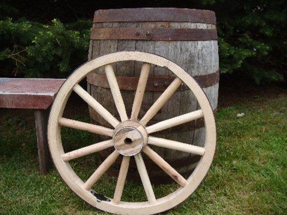 24 X 2 Inch Heavy Duty Cannon Style Wheel Home And Garden Decor