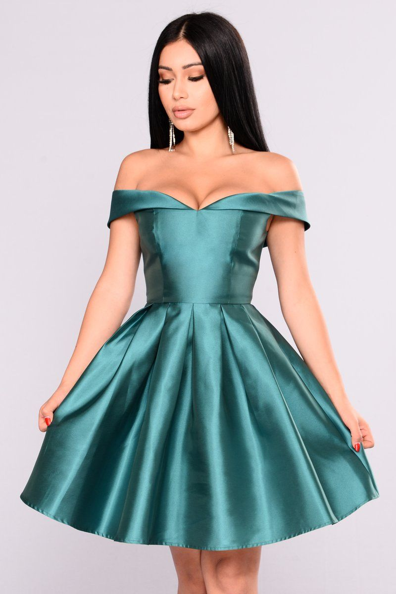 Wonderful Life Dress - Hunter Green | Wedding Guest Attire ...