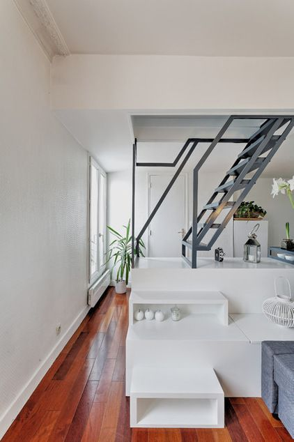 Contemporain Salon by Gaëlle Cuisy + Karine Martin, Architectes dplg ...