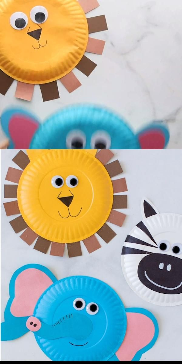 Photo of Paper Plate Jungle Animals