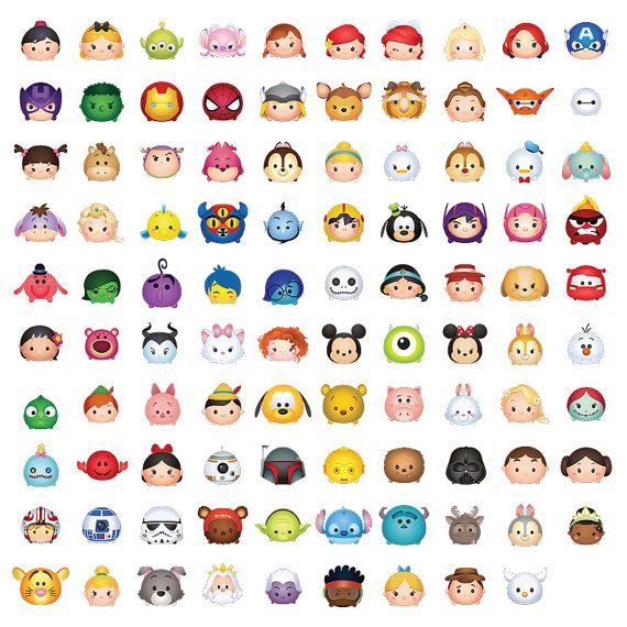 99 Tsum Tsum Character Digital A3 size Print Files by OhWowDesign ...