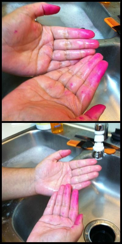 how to get rid of hair dye on hands