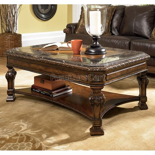 Casa Mollino Rectangular Occasional Table Set Signature Design Coffee Table Marble Cocktail Table Traditional Coffee Table Traditional coffee table sets