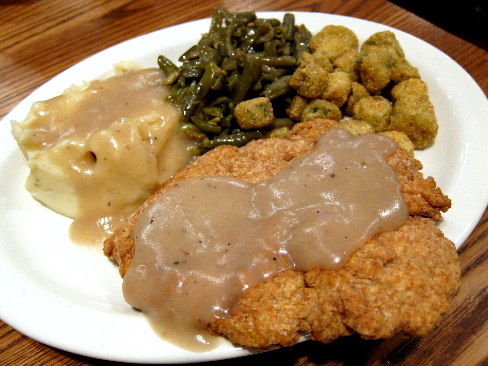 Southern Cooking - Chicken Fried Chicken, Mashed Potatoes ...