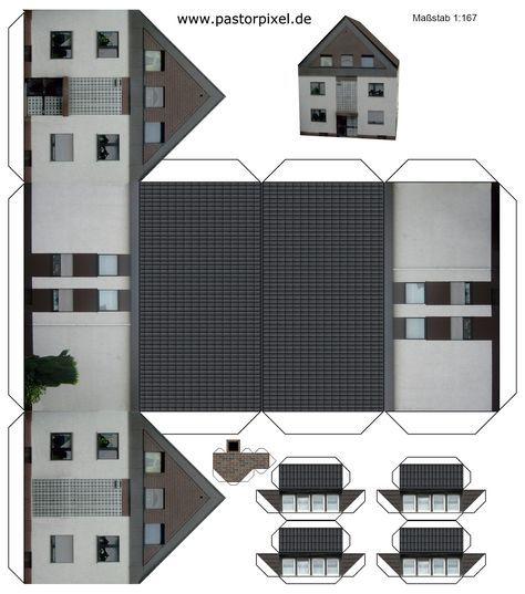 ausschneidebogen haus paper houses pinterest casas de papel sobres de papel und casitas. Black Bedroom Furniture Sets. Home Design Ideas