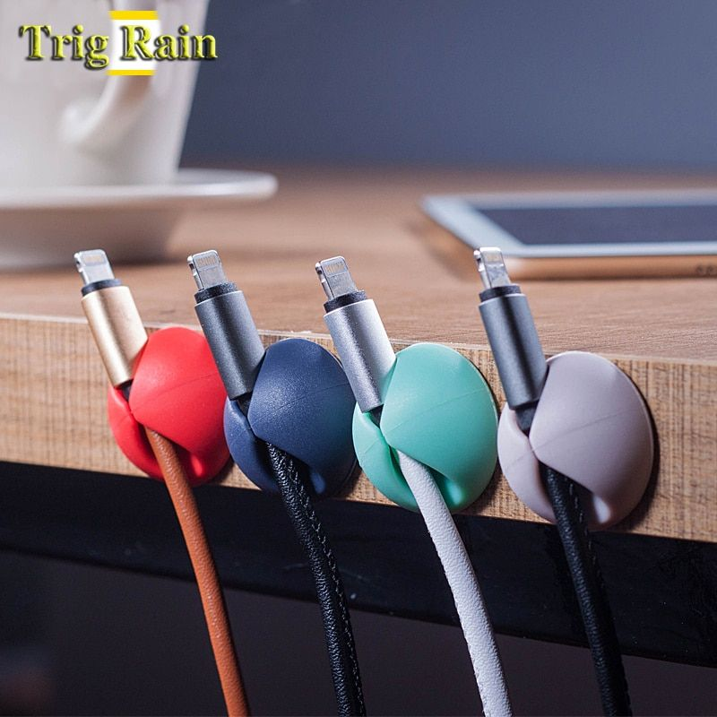 2PCS Cable Cord Wire Storage Holder Winder Smart for Headphones USB Earphone US