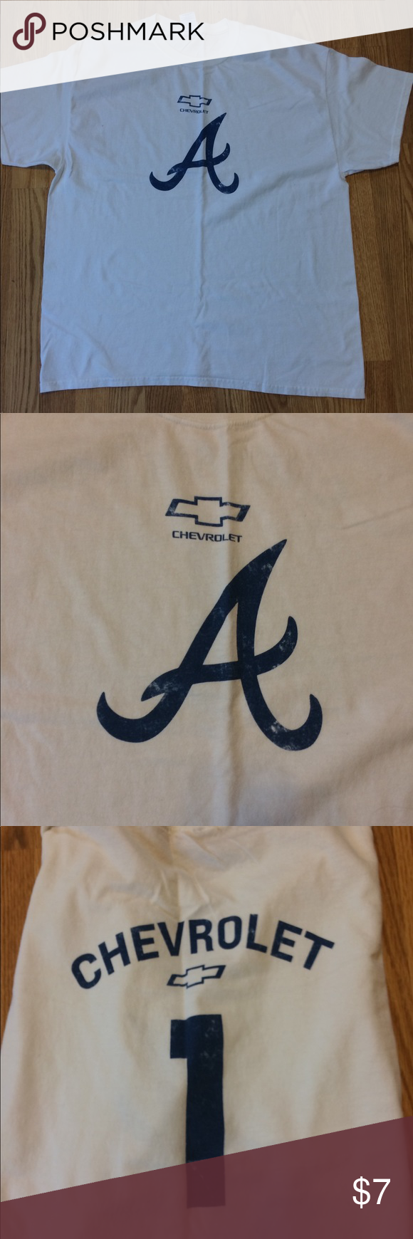 T shirt Atlanta Braves Chevrolet shirt Gildan Shirts Tees