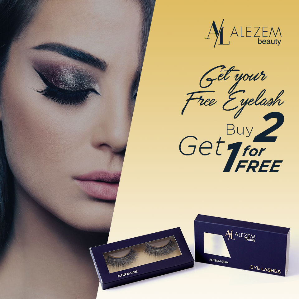 01c4d8f3804 Here is your FREE eyelash, Buy any two lashes and get third one for free.  Limited time offer. #alezembeauty #minklashes #eyelashes #makeup #eyemakeup  ...