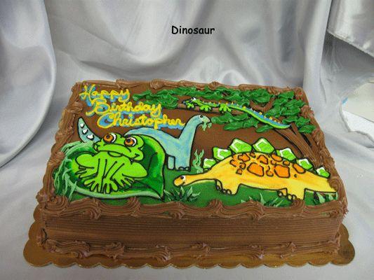 Dinosaur Sheet Cake Cake Dinosaur Cake Party Cakes