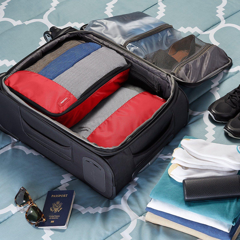 45265e19c AmazonBasics - Bolsas de equipaje (2 medianas, 2 grandes; 4 unidades ...