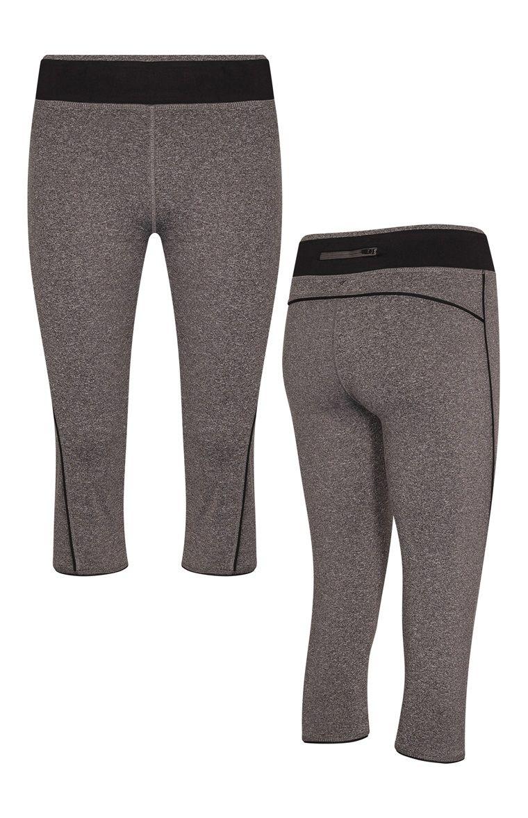 Legging de sport court gris et noir (avec images