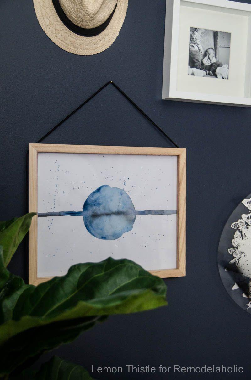 Tutorial diy simple watercolor art tutorial easy wall art ideas
