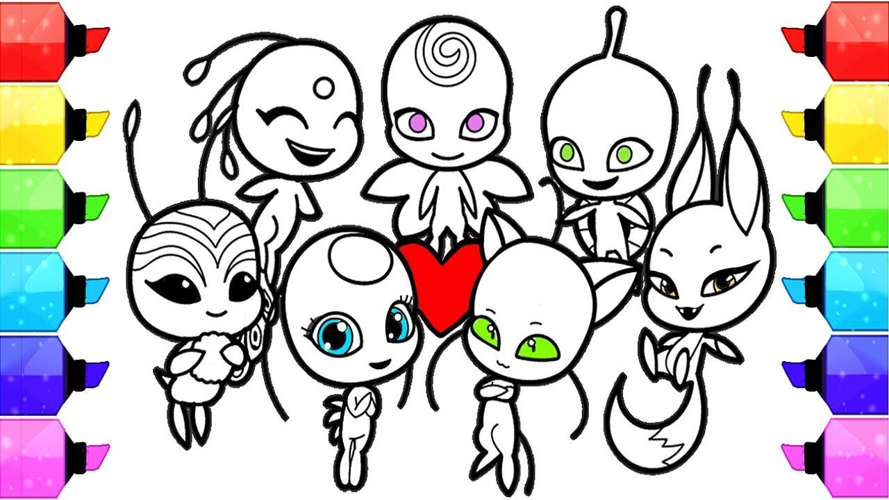 Miraculous Ladybug Coloring Pages Season 2 Kwami How To Draw And Color Kwami Tikki Plagg Trixx Yo In 2020 Ladybug Coloring Page Super Coloring Pages Coloring Pages