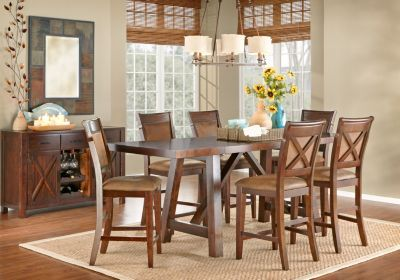 Mango Burnished Walnut Pc Counter Height Dining Room Room - Mango burnished walnut dining table