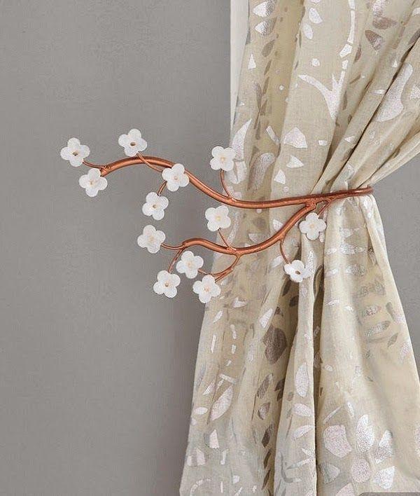 accessoires pour les rideaux de salon d coration salon d cor de salon tendances d co. Black Bedroom Furniture Sets. Home Design Ideas
