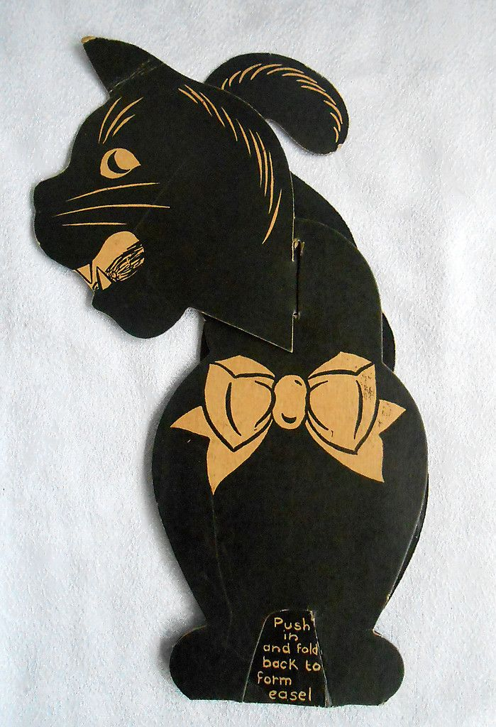 1910s vintage halloween die cut cat decoration tabletop crepe luhrs beistle ebay