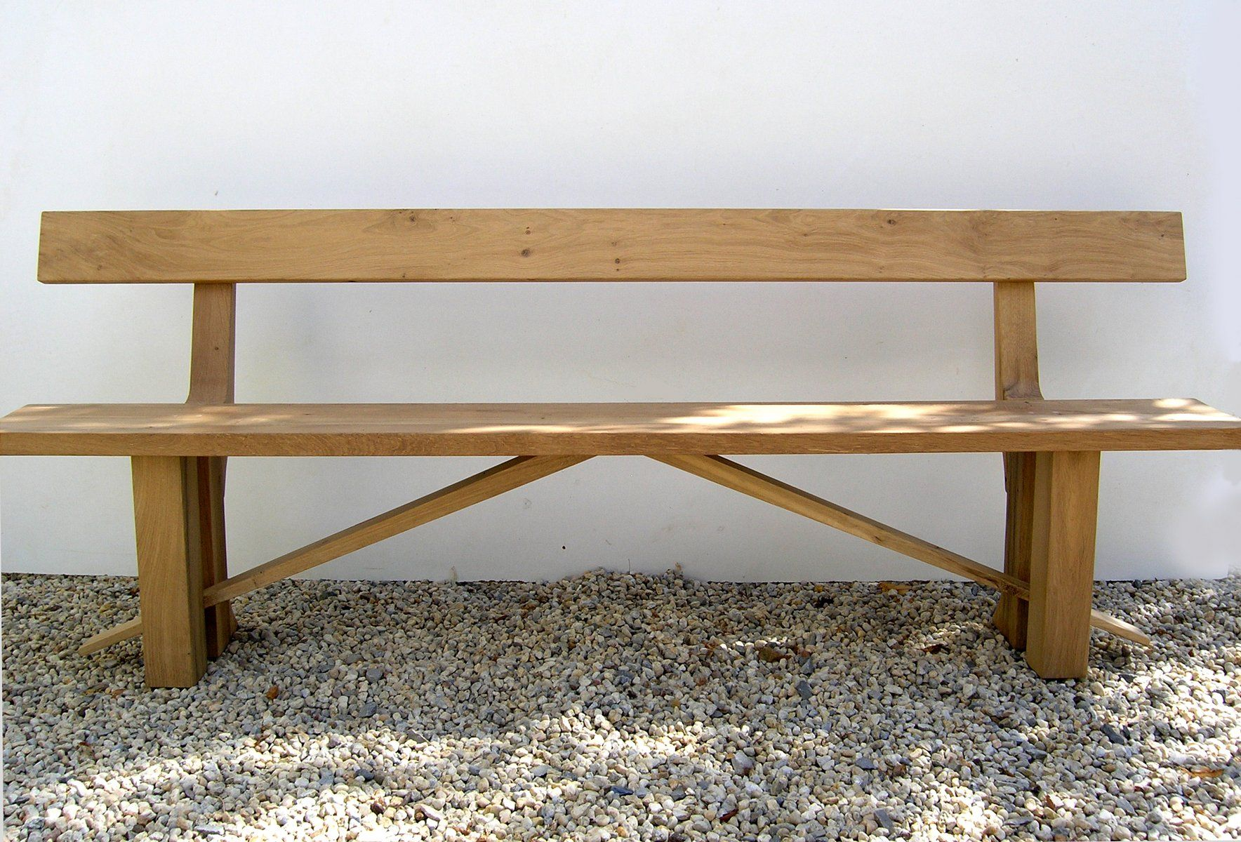 Zen Oak Dining Bench With Back