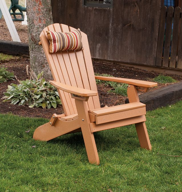 Polywood Reclining Adirondack Chair With Pull Out Ottoman Folds