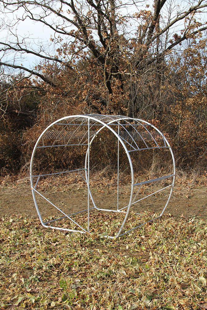 Sturdy Aluminum Galvanized Frame Of Hay Bale Blind Deer