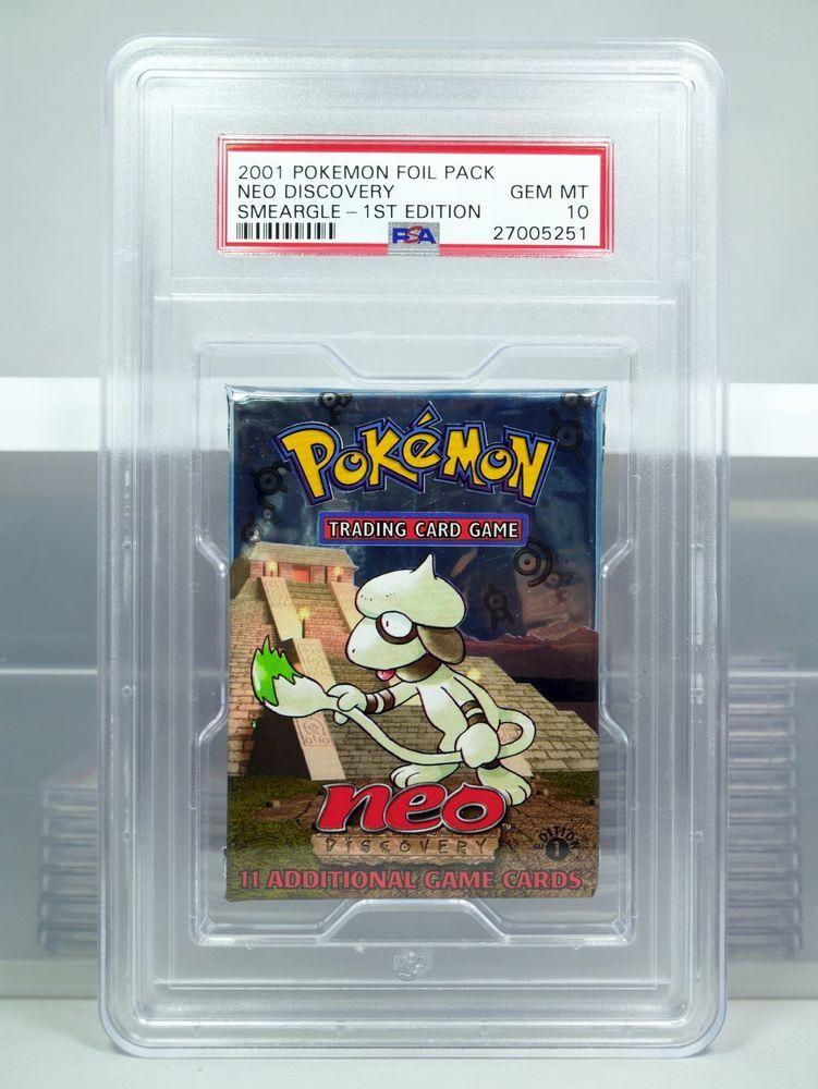 PSA 10 1st Edition Neo Discovery Smeargle Pokemon Booster