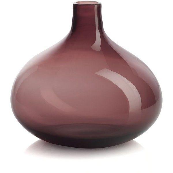 Crate & Barrel Clio Amethyst Vase found on Polyvore
