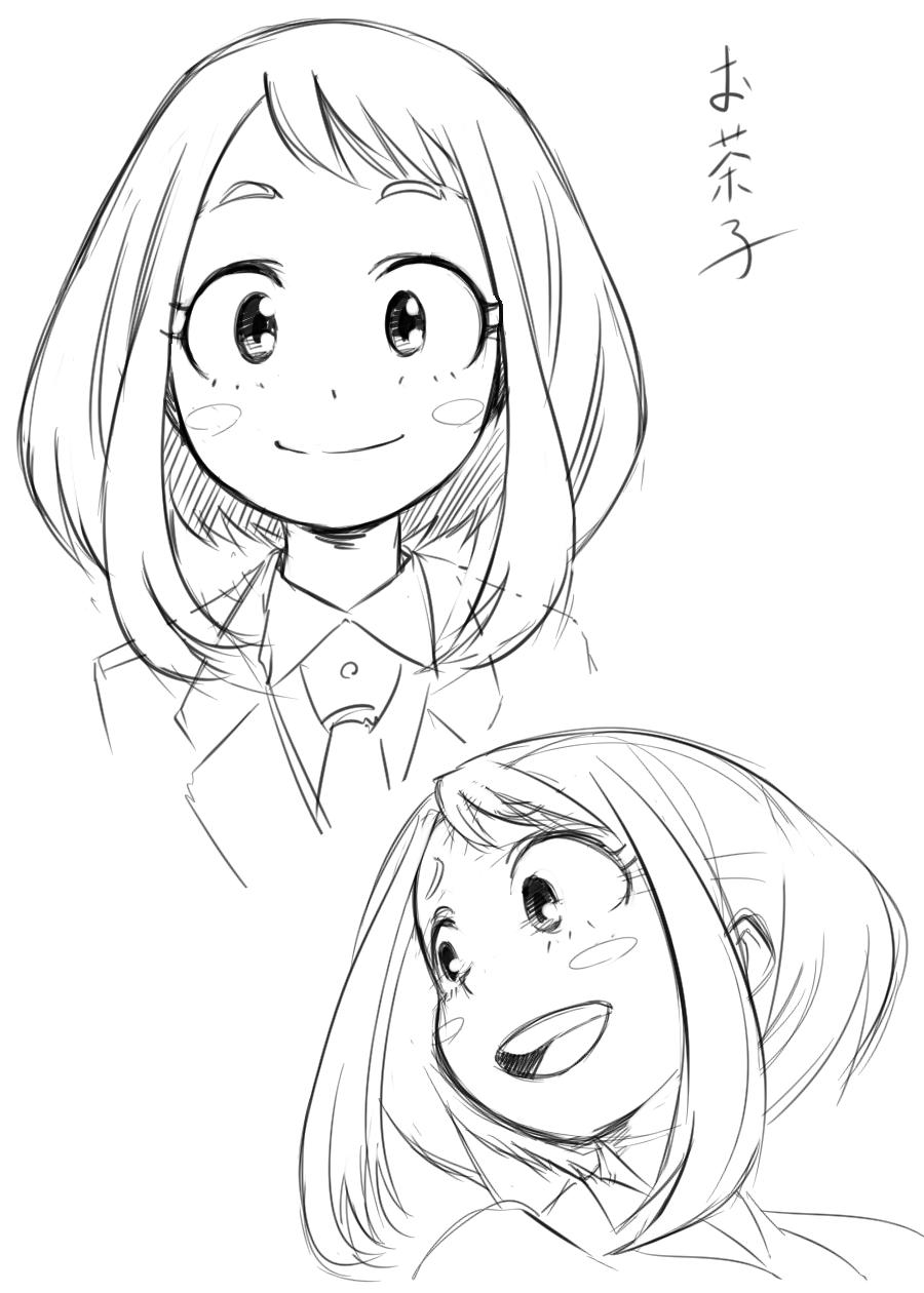 Boku No Hero Academia Uraraka Ochako My Hero Academia Manga Anime Sketch My Hero