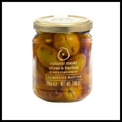 Natural Meski Olives Harissa First Ripe French Olives Are