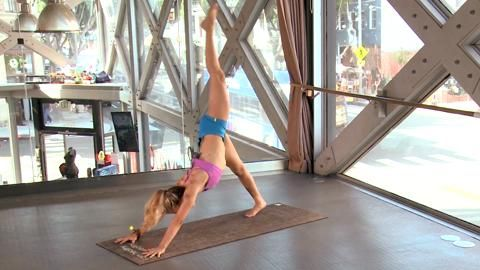 fire up your core and lengthen your muscles with this
